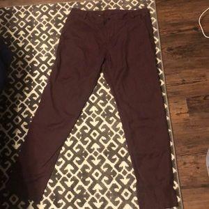 Lululemon ABC pants - wine size 36
